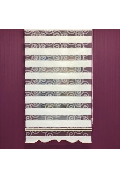 Payidar Lahya Bulut Desen 24001-101 Renkli Zebra Perde Etek Dilimli