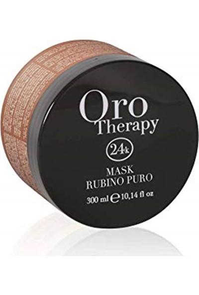 Fanola Oro Therapy Rubino Puro 24k Boyalı ve İşlem Görmüş Saç Maskesi 300 ml