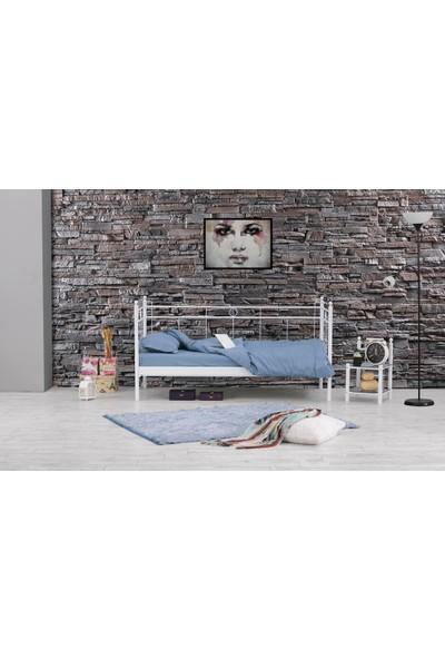 Unimet Alpas Daybed Tek Kişilik Metal Karyola-90 x 200 Beyaz