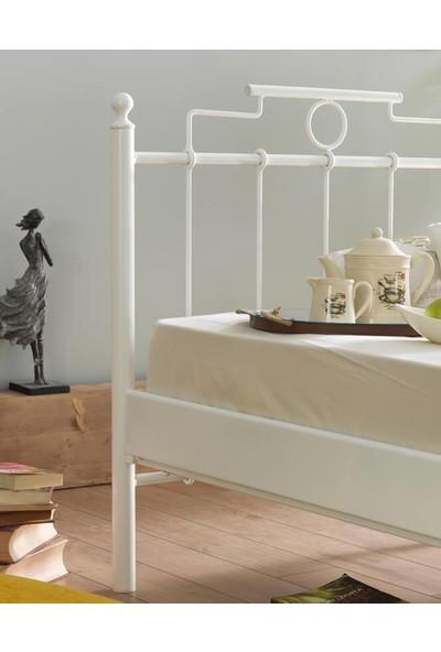 Unimet Hatkus Tek Kişilik Metal Karyola-90 x 200 Beyaz
