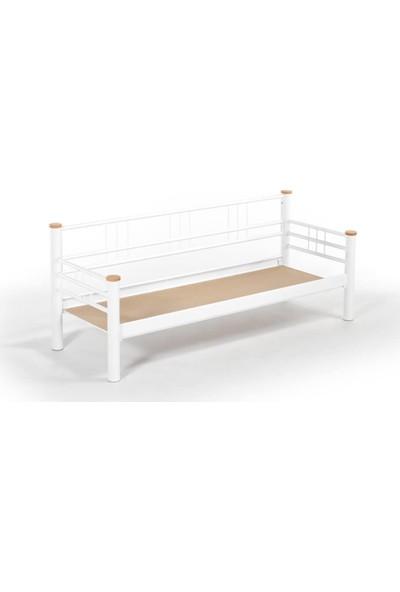 Unimet Kappis Dk Sofa Sedir 70 x 200 Beyaz-Füme
