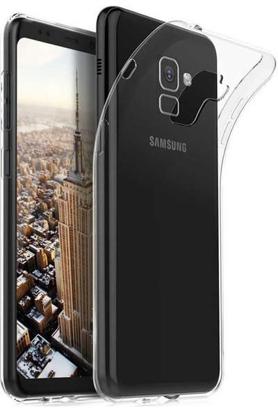 724kitapal Galaxy A8 2018 Kılıf Süper Silikon Kapak