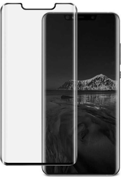 724kitapal Huawei Mate 20 Pro Kenarları Tam Kaplayan Full Size Eğimli Cam Ekran Koruyucu