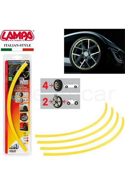 Pilot Sarı Jant Sticker 17-18-19-20 Jant İçin (4 Lastik) 30789
