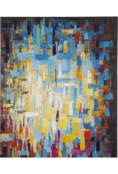 Decosuar Kanvas Baskı Üzeri El Yapımı Yağlı Boya Tablo 80 X120 cm