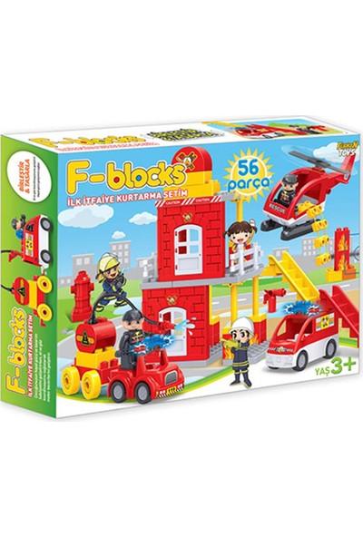 Furkan Toys F Blocks İlk İtfaiye Kurtarma Setim 56 Parça