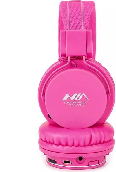 Bludfire Nia Radyolu MP3 Player Kulaklık + 8GB Hafıza Kartı Pembe