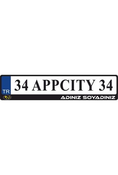 Appcity Kişiye Özel İsimli Subaru Logolu Plakalık