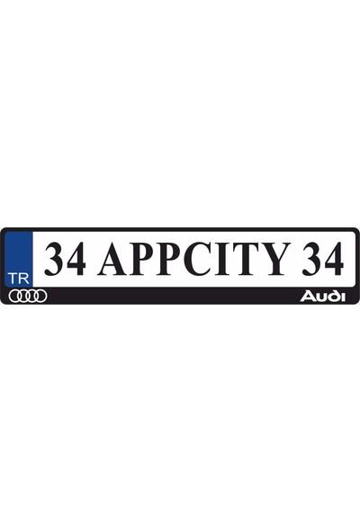 Appcity Audi Logolu Pleksi Plakalık
