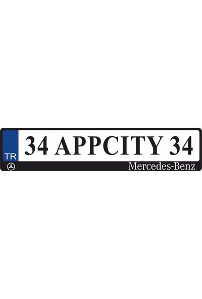 Appcity Mercedes Logolu Pleksi Plakalık