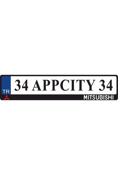 Appcity Mitsubishi Logolu Pleksi Plakalık
