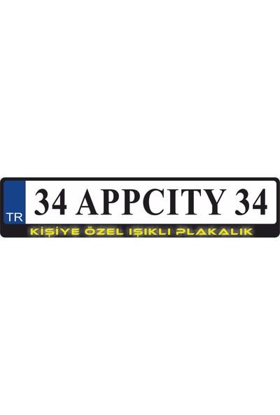 Appcity Kişiye Özel Işıklı Plakalık