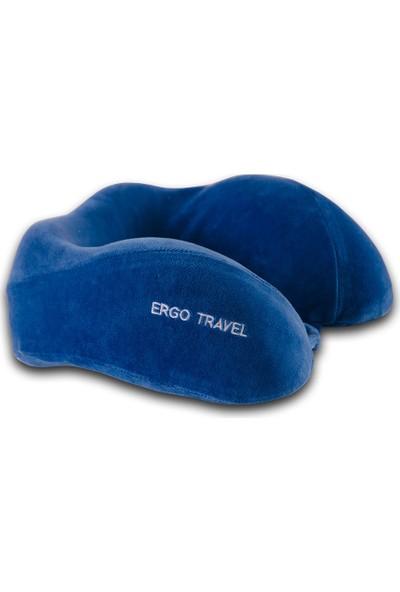 Viscofoam Boyun Comfort Mavi Seyahat Yastığı Visco Yastık