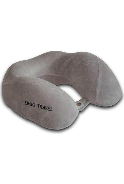 Viscofoam Boyun Comfort Gri Seyahat Yastığı Visco Yastık