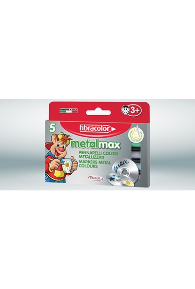 Fibracolor Metal Max Metalik Keçeli Kalem 5 Renk