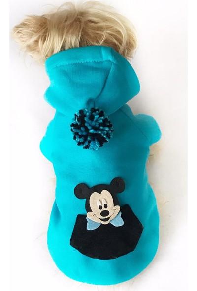 Kemique Blue Sevimli Fare Köpek Süeteri Athletıque Köpek Kıyafet Elbise M