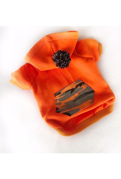 Kemique Orange Camouflage Köpek Süeteri Athletıque Köpek Kıyafet Elbise S