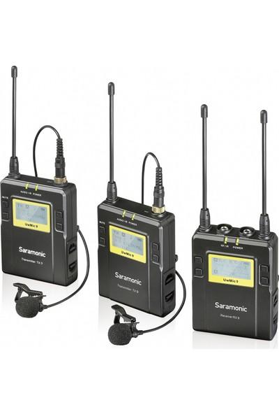 Saramonic UwMic9 TX9+TX9+RX9 Kit2 UHF Kablosuz Yaka Mikrofonu