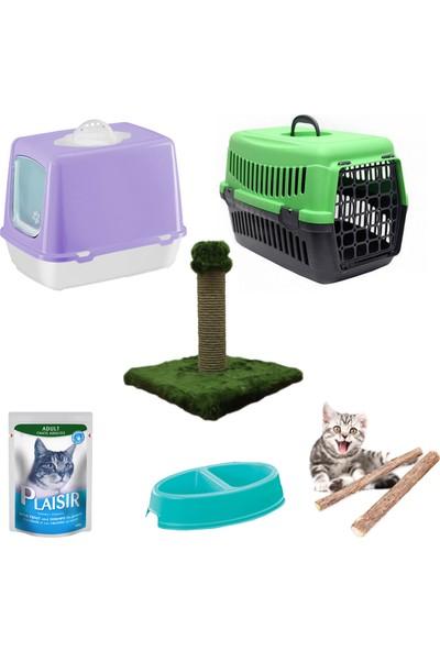 Petfony Kapalı Kedi Tuvaleti, Kedi Taşıma Çantası, İkili Mama Kabı