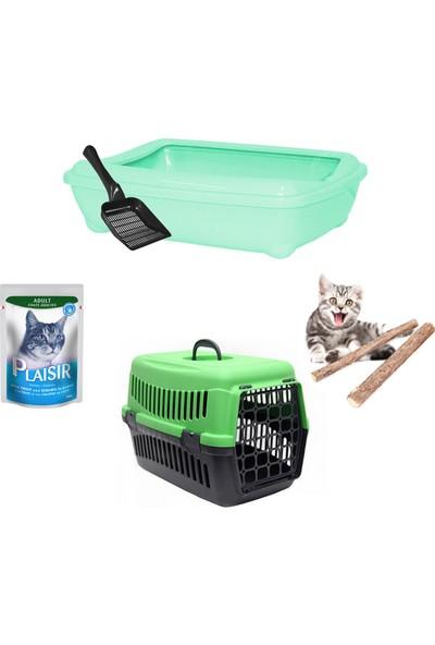 Petfony Açık Kedi Tuvaleti, Kedi Taşıma Çantası, Yaş Mama, Catnip