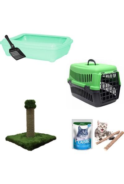 Petfony Açık Kedi Tuvaleti,Kedi Taşıma Çantası,Yaş Mama,Tırmalama