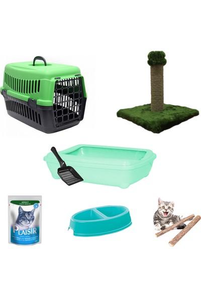 Petfony Açık Kedi Tuvaleti, Kedi Taşıma Çantası,İkili Mama Kabı