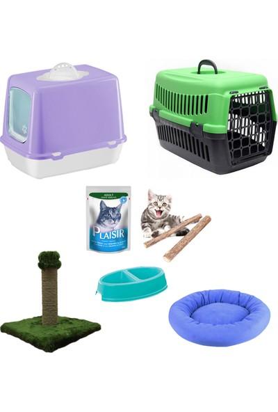 Petfony Kapalı Kedi Tuvaleti, Kedi Taşıma Çantası,Kedi Yatağı,Tırmalama
