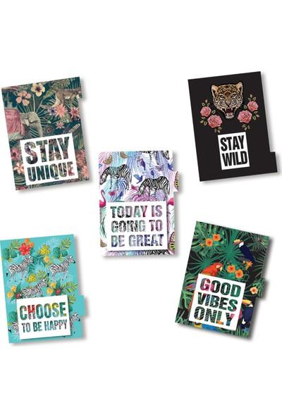 Miya Design Tarihsiz İngilizce Hayat Planlayıcı Kiti - Wonderland
