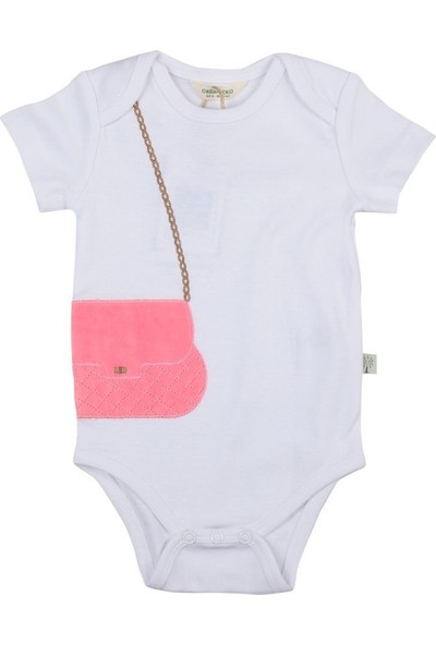 Organic Kid Chic Girl Beyaz Bebek Body