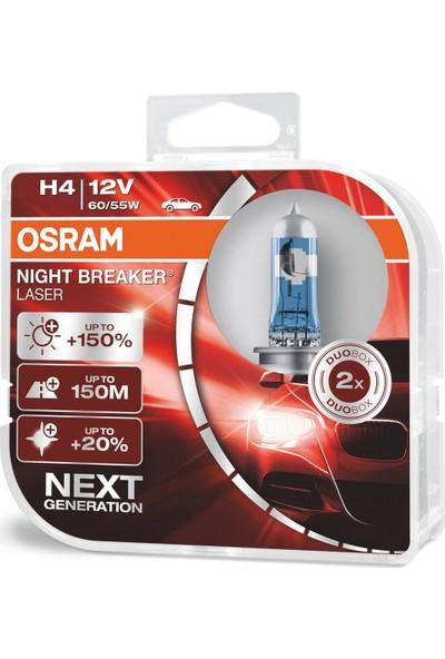 Osram Next Generation H4 Night Breaker Laser +%150 12V 60/55W 2'Li Ampül Set