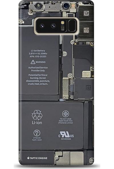 Eiroo Samsung Galaxy Note 8 Devre Baskılı Tasarım Kılıf
