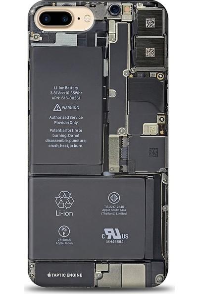 Eiroo Apple iPhone 8 Plus Devre Baskılı Tasarım Kılıf