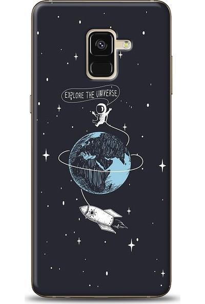 Eiroo Samsung Galaxy A8 2018 Explore Baskılı Tasarım Kılıf