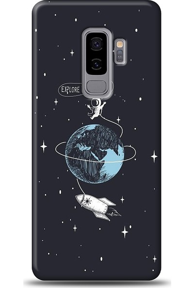 Eiroo Samsung Galaxy S9 Plus Explore Baskılı Tasarım Kılıf