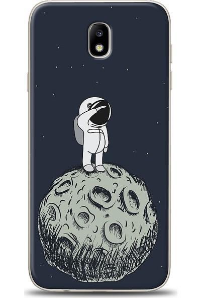 Eiroo Samsung Galaxy J7 Pro 2017 Astronot Baskılı Tasarım Kılıf