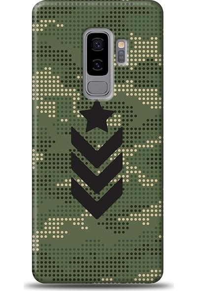 Eiroo Samsung Galaxy S9 Plus Camouflage Baskılı Tasarım Kılıf