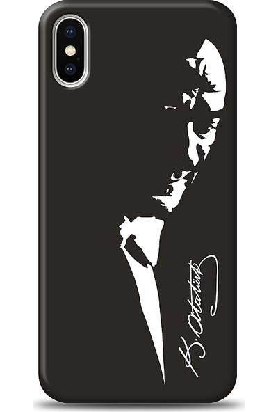 Eiroo Apple iPhone X Atatürk Silüet Kılıf