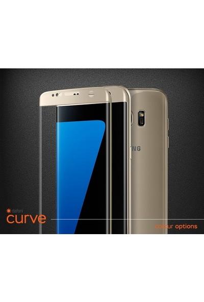 Dafoni Samsung Galaxy A9 2018 Curve Tempered Glass Premium Full Siyah Cam Ekran Koruyucu