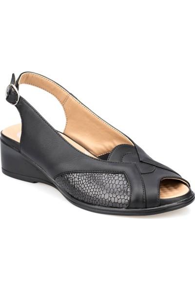 Polaris 5 Nokta 91.100725.Z Siyah Kadın Sandalet