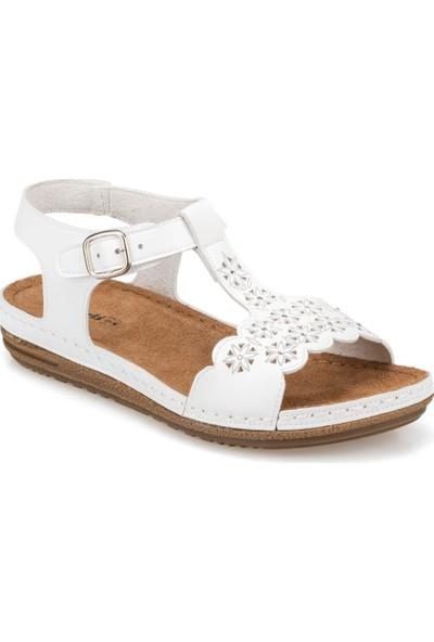 Polaris 91.158550.Z Beyaz Kadın Sandalet