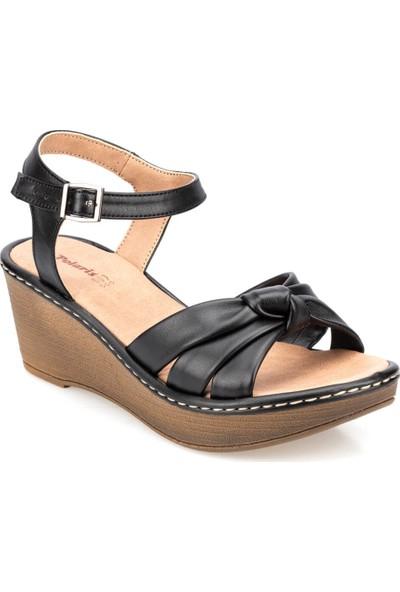 Polaris 91.155751.Z Siyah Kadın Sandalet