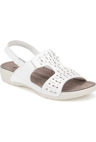 Polaris 91.150767.Z Beyaz Kadın Sandalet