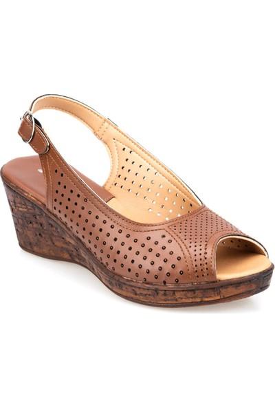 Polaris 91.150789.Z Taba Kadın Sandalet