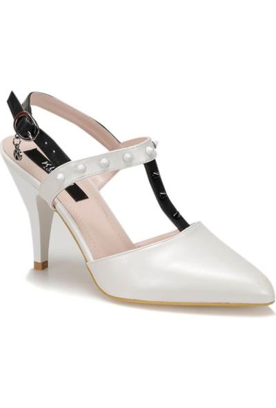 Kuum Kz1301-15 Beyaz Kadın Sandalet