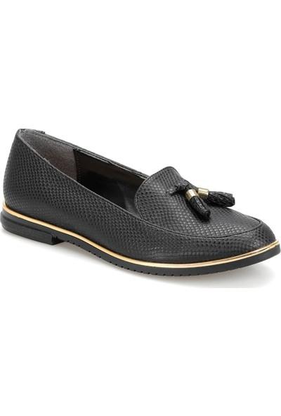 Butigo Ds18019-19İy Siyah Kadın Loafer Ayakkabı