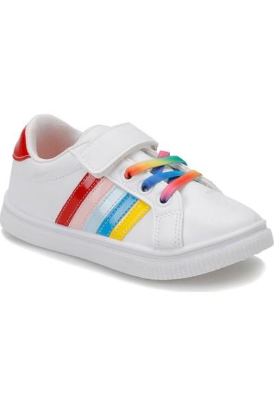 I Cool Funny F Beyaz Kırmızı Kız Çocuk Sneaker Ayakkabı