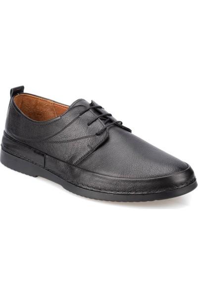 Polaris 5 Nokta 91.100555.M Siyah Erkek Deri Klasik Ayakkabı