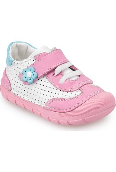 Polaris 91.510007.İ Pembe Kız Çocuk Deri Ayakkabı