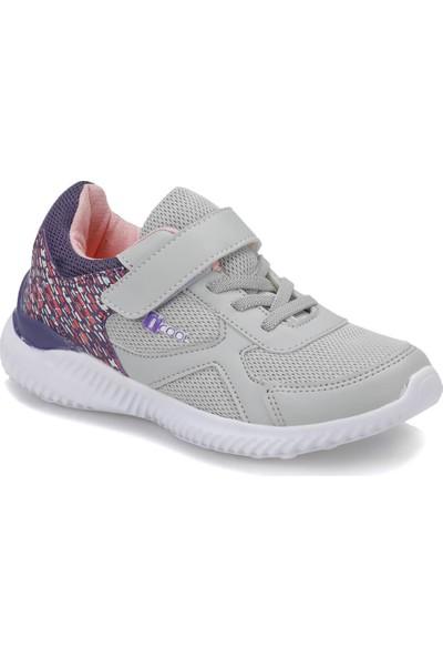 I Cool Sydney Gri Mor Kız Çocuk Yürüyüş Ayakkabısı