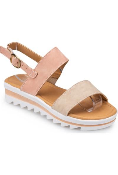 Polaris 91.508159.F Sarı Kız Çocuk Sandalet